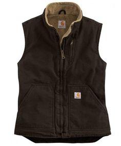 Carhartt Women's Dark Brown Lined Vest