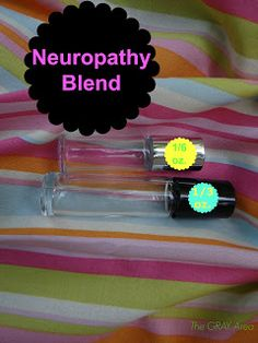 Neuropathy Blend ~ 10 drops Aromatouch, 6 Wild Orange, 4 Helichrysum (if for cancer, add 4 drops Frankincense), FCO in 1/6 oz roller