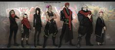 A:CtS Cyberpunk AU ONE LAST TIME by Tyshea on deviantART. Character lineup.