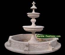 3-tier-water-fountain habilmente sculpted de um mármore fonte de água é um cachoeira fonte cada camada tier 3 tem bacia de água(China (Mainland))