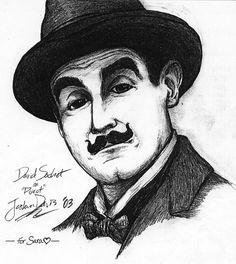 Drawing of Hercule Poirot