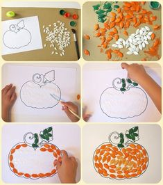 These fall crafts for kids are wonderful! I'm always amazed how creative people are! There are lots of great ideas here that the kids are going to love and happy Fall Crafts For Toddlers, Christmas Crafts For Kids, Toddler Crafts, Diy For Kids, Holiday Crafts, Autumn Activities, Art Activities, October Crafts, Easy Halloween Crafts