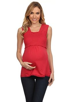 8f19afe91c2 This sultry smocked nursing tank top is great during pregnancy with easy to  nurse lift up panel for breastfeeding. This can also be used as a maternity  tank