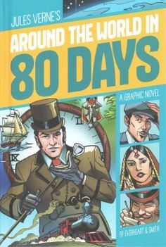 In this graphic retelling of the classic novel, Phileas Fogg bets his friends in London that in the year 1872 he can travel around the world in eighty days--and he and his personal attendant, Passepartout, find danger and romance on the journey.