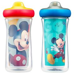 Disney Mickey Mouse Insulated Hard Spout Sippy Cups 9 Oz, Scan with Free Share the Smiles App for Cute Animation Share with Friends Leak Proof Cups Keep Drink Cool Drop Guard Toddler Cup, Multicolor Disney Mickey Mouse, Disney Pixar, Disney Characters, Smile App, Disney Cups, Insulated Cups, The Good Dinosaur, Baby Invitations, Child Day