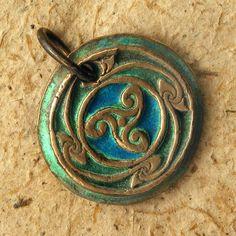 Celtic Triskelion Pendant  Handcrafted Bronze by WildRavenStudio, $18.00