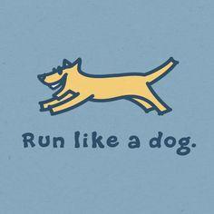 I love to watch my dog run.
