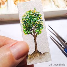 Árvore 18, miniatura, aquarela / Tree 18, watercolor, miniature 40treesprojetc, Adriana Galindo