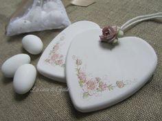 Cuore gesso profumato per bomboniere Shabby chic di ♥ La casa di Gaia ♥ su DaWanda.com