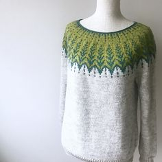 Ravelry: himawari's Vintersol Test by patrica Fair Isle Knitting, Knitting Yarn, Hand Knitting, Ravelry, Knitting Patterns, Crochet Patterns, Icelandic Sweaters, Knitting Projects, Knitwear