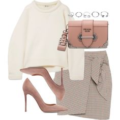 A fashion look from January 2018 featuring T By Alexander Wang sweaters, Étoile Isabel Marant mini skirts and Gianvito Rossi pumps. Browse and shop related loo…