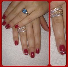 Red rhinestone inspired #ManiMonday at  #RedDoorSpa.