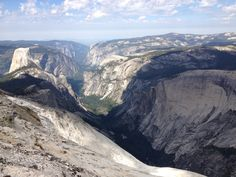 Clouds Rest...looking down on Half Dome and the valley.