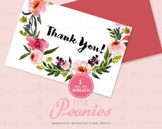 Digital Clipart Watercolor Flower Clipart peonies Clip art