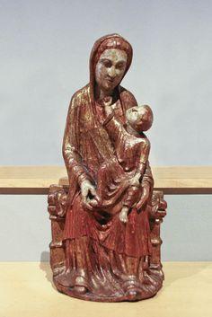 Virgen románica. Mare de Déu amb el Nen,siglo XIII-XIV, León. Museo Frederic Marés.