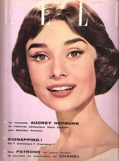 Audrey on the cover of French ELLE, October 1956