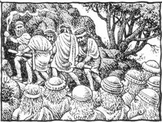 Robert Crumb - The story of Joseph & his brothers - Jacob is buried in the cave of Machpelah (Genesis 50:13)
