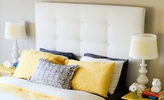 UPHOLSTERED HEADBOARD-IKEA MALM HACK -, no drilling through the headboard, all done with staples