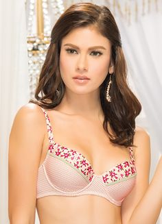 CARIDEE Underwire, molded cup brassiere Size/s: 32a, 34a, 36a, 32b, 34b, 36b Color: cream Php 335