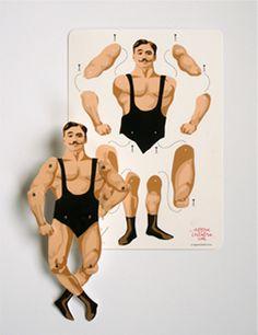 DIY: articulated strongman, printable