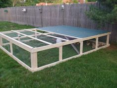 """Chicken tractor: fits 50 meat birds...11'x12' wide 2'10 1/2""""high"""