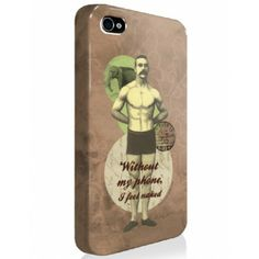 "SALE ! Coque iPhone ""Without my phone"" couleur taupe - Les broutilles"