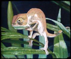 Camaleón (óleo sobre lienzo 2006)