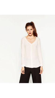 Zara blouse - fab neckline!