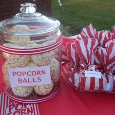 Carnival Party Popcorn Balls