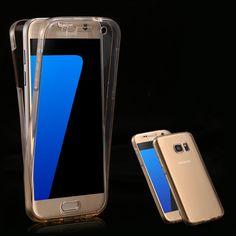 클리어 case 대한 samsung galaxy s7 s7 edge 액세서리 투명 360 360도 보호 전화 커버 galaxy s7 s7 edge TPU