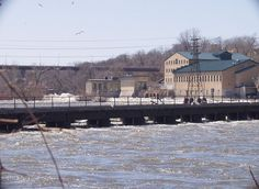 The Atlas Mill and some crazy spring runoff on the Fox River, Appleton, Wisconsin
