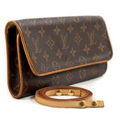 The vintage look... & most remembered Lady Di's elegant style! Here's the beautiful Louis Vuitton Monogram Pochette Twin GM | Couture Corner