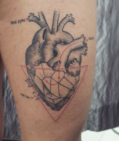 Hearts geometric tattoo by monica_manara