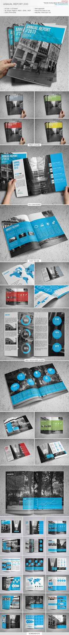 Annual Report Template by Realstar , via Behance