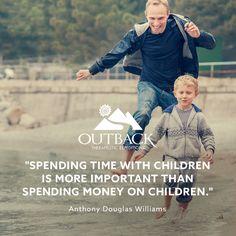 """Spending time with children is more important than spending money on children."" — Anthony Douglas Williams #takethetime #familyfirst"