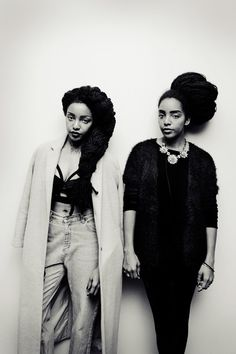 Twin Beauty: Cipriana Quann and her sister, Takenya 'TK Wonder' Quann Photos: Phil Oh/Milk Studios/Tommy Ton