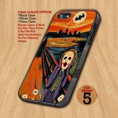 Scream Batman and Joker  - Design on Hard Case For iPhone 5 Case