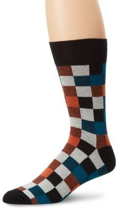 PACT Men's Crew Sock, Portland Plaid, One Size PACT. $10.00