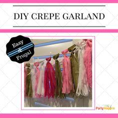DIY Crepe Tassel Garland