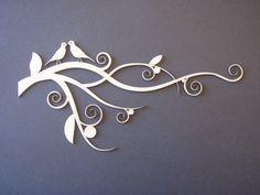 Dusty Attic - Laser Cut Chipboard - Birds on a Branch