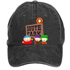 6bc92f6f5ac Jidlg Custom Washed Man Cotton South Park Funny Cartoon Poster Adjustable  Baseball Cap