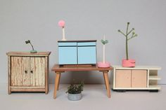 Vintage dollhouse furniture by Sabine Timm