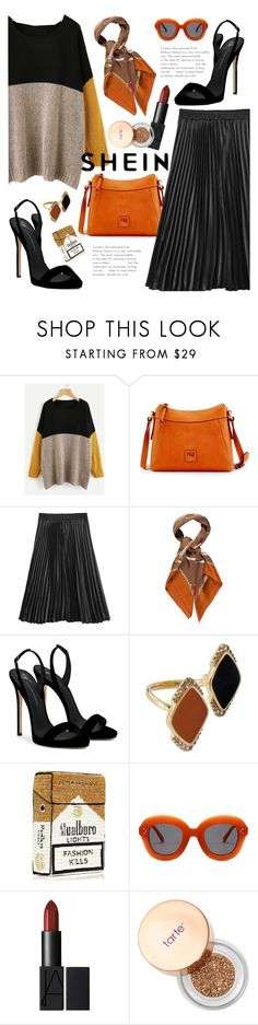 """""""Shein Color Block"""" by elza-santos ❤ liked on Polyvore featuring Dooney & Bourke, Gucci, Giuseppe Zanotti, Misis, MUA MUA, Sephora Collection, contest and shein"""