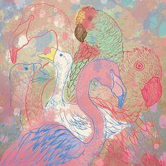 Orie's animal art. #鳥の絵 #鳥 #イラスト #おしゃれイラスト #illustration Bird Illustration, Acacia, Birds, Painting, Painting Art, Bird, Paintings, Painted Canvas, Drawings