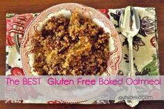 The BEST Gluten Free Baked Oatmeal - Outside Kid Baked Oatmeal, Gluten Free, Kid, Good Things, Breakfast, Baked Oats, Glutenfree, Child, Morning Coffee