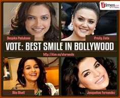 These Bollywood divas have smiles to die for in my opinion deepika has the best :D