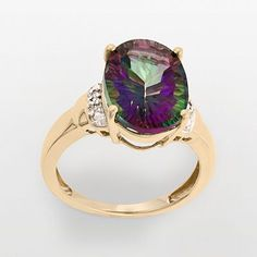 Mystic Fire Topaz ring my mom bought me :) I love this gemstone