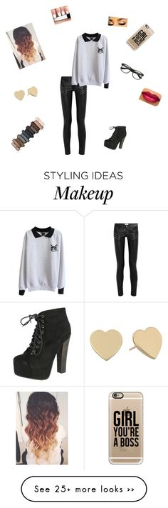 """Untitled #122"" by doglover21 on Polyvore featuring Yves Saint Laurent, Breckelle's, Casetify, Kate Spade and Urban Decay"