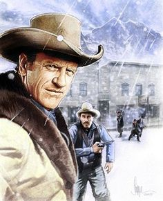 James Arness & Ken Curtis. I wonder if Buck Taylor painted this one.