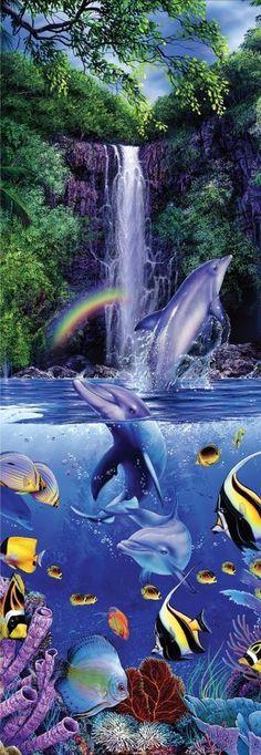 Masterpieces Christian Riese Lassen Eternal Rainbow Sea Jigsaw Puzzle - 500 pc